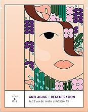 Духи, Парфюмерия, косметика Восстанавливающая маска для лица - You & Oil Anti-Aging & Regeneration Face Mask With Liposomes