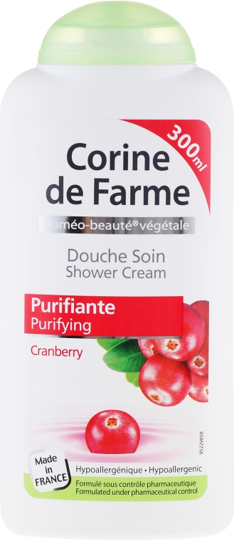"Крем для душа ""Клюква"" - Corine De Farme Shower Cream — фото N1"