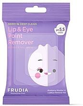 Духи, Парфюмерия, косметика Мицеллярные салфетки для снятия макияжа с глаз и губ - Blueberry Micellar 5.5 Lip & Eye Remover Pad
