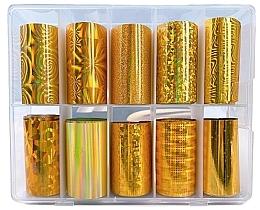 Духи, Парфюмерия, косметика Набор трансферной фольги - Deni Carte Gold Holo