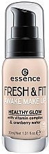 Духи, Парфюмерия, косметика Тональная основа - Essence Fresh & Fit Awake Make Up
