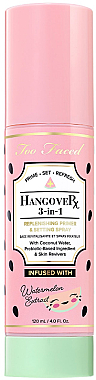 Праймер-спрей для лица 3-в-1 - Too Faced Hangover 3-in-1 Replenishing Primer and Setting Spray Watermelon Edition — фото N1