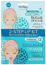 Духи, Парфюмерия, косметика Маска-скраб для губ с кокосом - Derma V10 2 Step Lip Treatment Kit Coconut