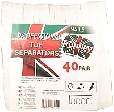 Духи, Парфюмерия, косметика Сепараторы для педикюра, 80 шт - Ronney Professional Toe Separators