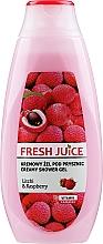 """Духи, Парфюмерия, косметика Крем-гель для душа """"Личи и малина"""" - Fresh Juice Creamy Shower Gel Litchi & Raspberry"""