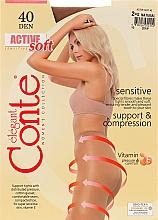 "Духи, Парфюмерия, косметика Колготки ""Active Soft"" 40 Den, natural - Conte"