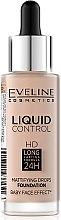 Духи, Парфюмерия, косметика Жидкая тональная основа - Eveline Cosmetics Liquid Control HD Mattifying Drops Foundation (тестер)