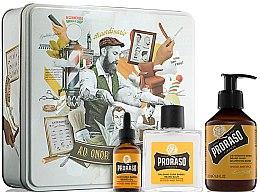 Духи, Парфюмерия, косметика Набор - Proraso Wood & Spice Beard Kit (balm/100ml + shmp/200ml + oil/30ml)