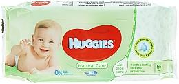 Духи, Парфюмерия, косметика Детские влажные салфетки Natural Care, 56 шт - Huggies