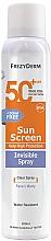 Духи, Парфюмерия, косметика Солнцезащитный крем для лица и тела - Frezyderm Sun Screen Invisible SPF50+ Spray