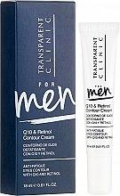 Духи, Парфюмерия, косметика Мужской крем для лица - Transparent Clinic For Men Q10&Retinol Contour Cream