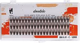 Духи, Парфюмерия, косметика Накладные пучки, C 12 mm - Ibra 20 Flares Eyelash Knot Free Naturals