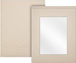Духи, Парфюмерия, косметика Зеркальце карманное раскладное, бежевое - MakeUp Pocket Mirror Beige
