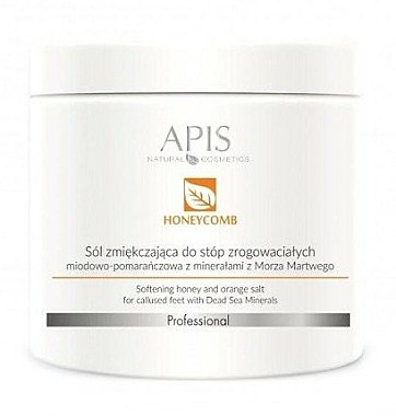 Смягчающая солевая ванна для ног - APIS Professional Softening Honey And Orange Salt — фото N1