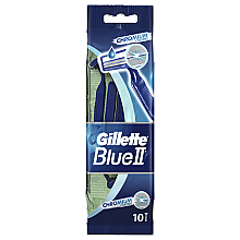 Духи, Парфюмерия, косметика Набор одноразовых станков для бритья, 10шт - Gillette Blue II Chromium