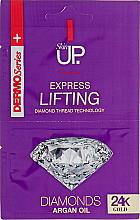 Духи, Парфюмерия, косметика Лифтингующая экспресс-маска для лица с 24-каратным золотом и бриллиантами - Verona Laboratories DermoSerier Skin Up Express Lifting Diamonds 24k Gold