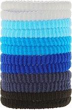 Духи, Парфюмерия, косметика Резинки для волос синие mix, 12 шт - Top Choice