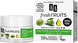 Духи, Парфюмерия, косметика Паста-пилинг для лица с оливковом маслом - AA Fresh Fruits Healthy Glow