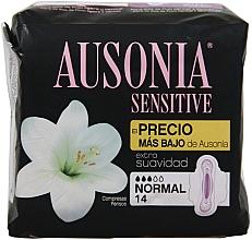 Духи, Парфюмерия, косметика Гигиенические прокладки, 14 шт - Ausonia Sensitive Normal With Wings