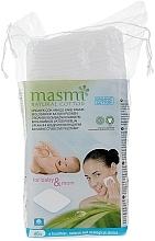Духи, Парфюмерия, косметика Органические кватдратные ватные диски - Masmi Natural Cotton