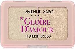 Духи, Парфюмерия, косметика Палетка хайлайтеров - Vivienne Sabo Vs Gloire D'Amour (01 -Светло-розовый)