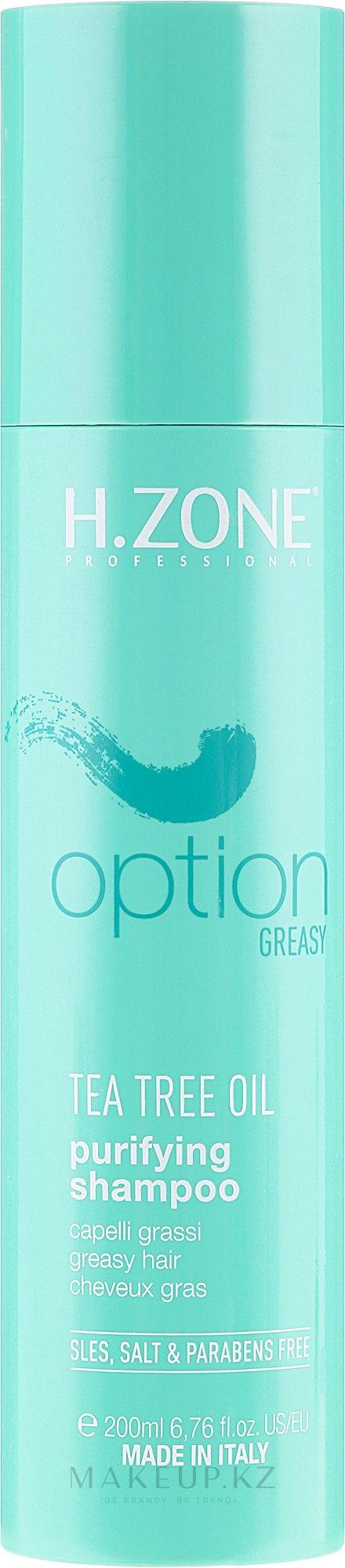 Шампунь для волос - H.Zone Option Tea Tree Oil Purifying Shampoo — фото 200 ml