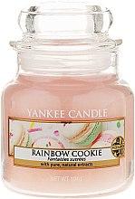 Духи, Парфюмерия, косметика Ароматическая свеча в стеклянной банке - Yankee Candle Rainbow Cookie
