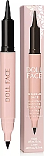 Духи, Парфюмерия, косметика Подводка-каял для глаз - Doll Face Double Date Liquid Eye Definer & Smokey Kajal