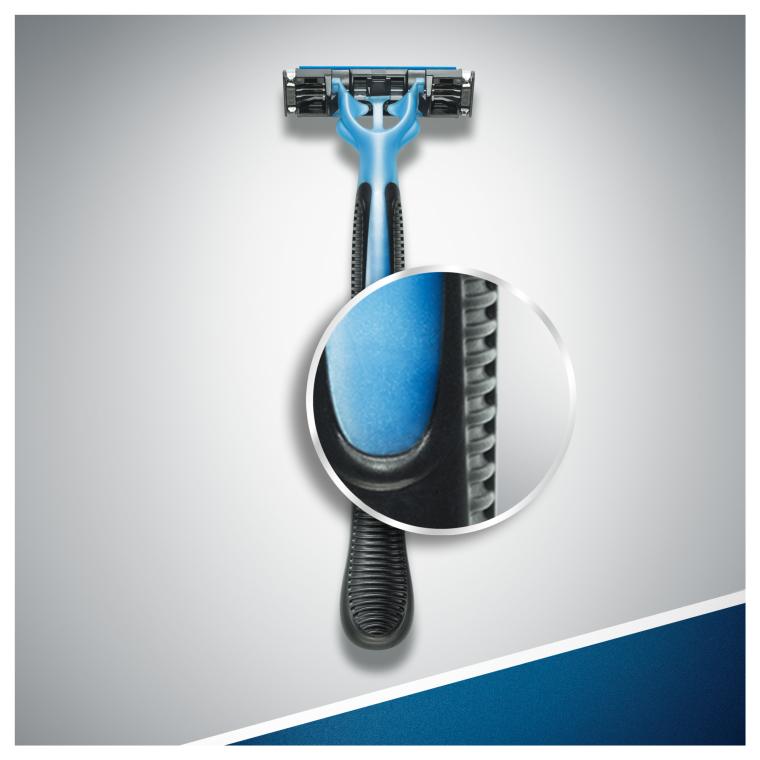 Набор одноразовых станков для бритья, 3шт - Gillette Blue 3 — фото N5