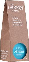 Духи, Парфюмерия, косметика Крем-дезодорант с мятой и розмарином - The Lekker Company Natural Deodorant