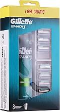 Духи, Парфюмерия, косметика Набор - Gillette Mach 3 (8 сменных кассет + gel/200ml)