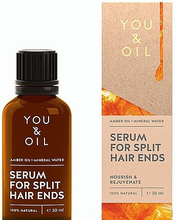 Сыворотка от секущихся кончиков - You & Oil Amber. Serum For Split Hair Ends — фото N1