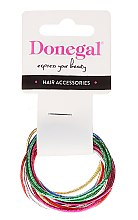 Духи, Парфюмерия, косметика Резинки для волос тонкие, FA-9911, 12 шт - Donegal