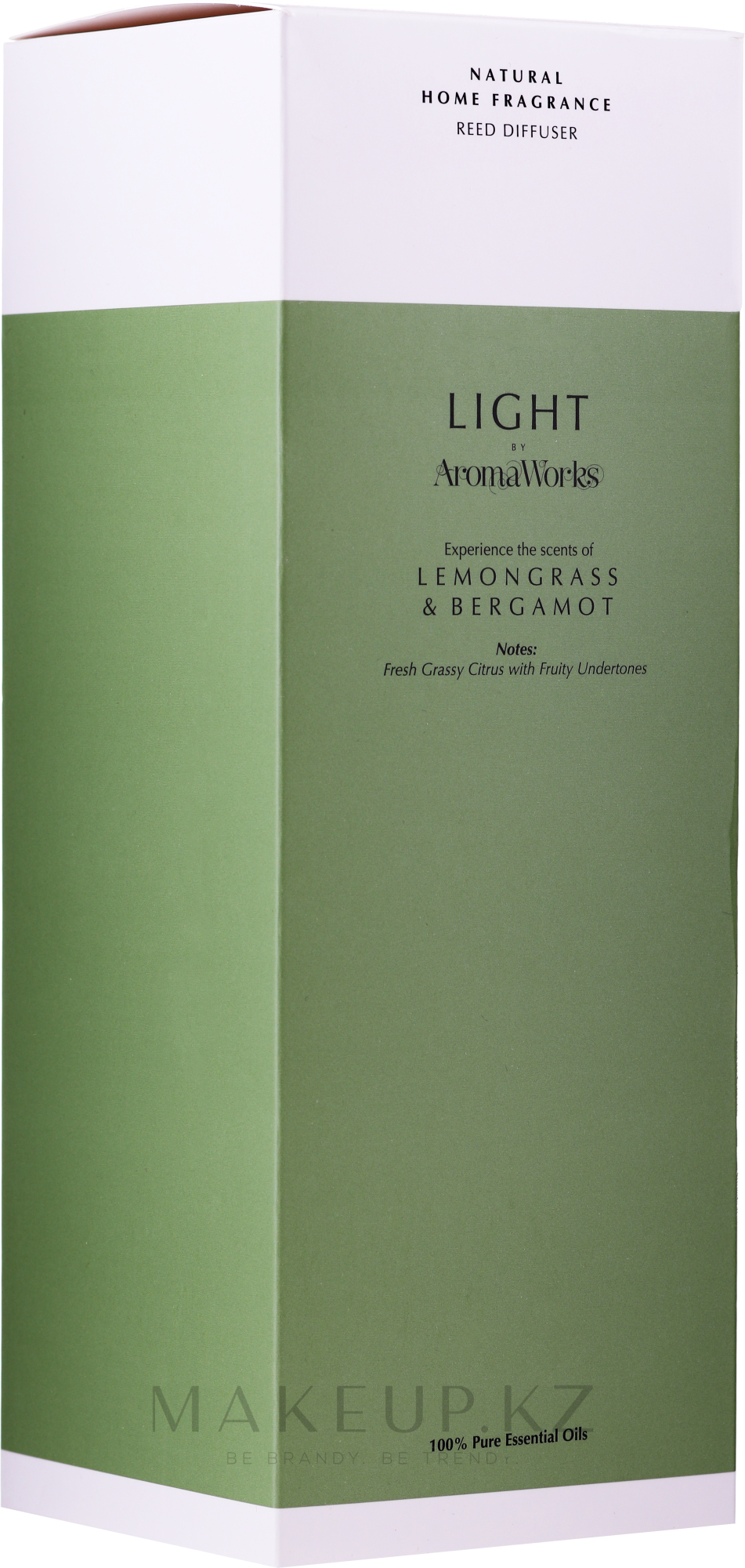 "Ароматический диффузор ""Лемонграсс и бергамот"" - AromaWorks Light Range Lemongrass & Bergamot Reed Diffuser — фото 200 ml"