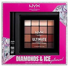 Духи, Парфюмерия, косметика Набор - NYX Professional Makeup Diamonds & Ice Please Shadow & Liner Set (sh/palette/16x1.18g+liner/2ml)