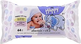 Духи, Парфюмерия, косметика Влажные салфетки c витамином Е, 64 шт - Bella Baby Happy Vit E & Allantoin
