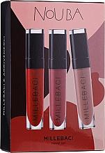 Духи, Парфюмерия, косметика Набор - NoUBA Millebaci Travel Set №3 (lipstick/3х6ml)