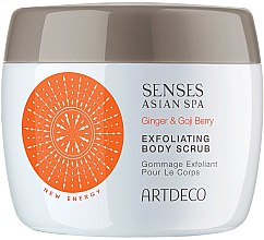 Духи, Парфюмерия, косметика Скраб-пилинг для тела - Artdeco Senses Asian Spa Ginger&Goji Berry Exfoliating Body Scrub