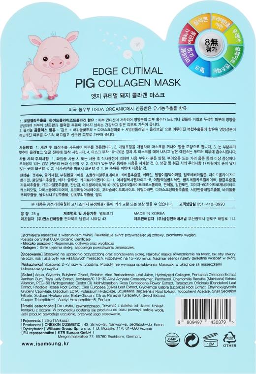 "Тканевая маска для лица ""Поросенок"" - Belleza Castillo Edge Cutimal Pig Anti-Wrinkle Mask — фото N2"