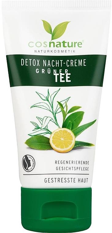 """Крем для лица, ночной """"Детокс"""" - Cosnature Night Cream Detox Green Tea — фото N2"""