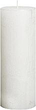 Духи, Парфюмерия, косметика Свеча цилиндрическая Metallic White, 190/68 мм - Bolsius Candle
