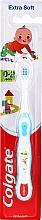 Духи, Парфюмерия, косметика Детская зубная щетка мягкая, 0-2 лет, бело-синяя с ребенком - Colgate Smiles Toothbrush
