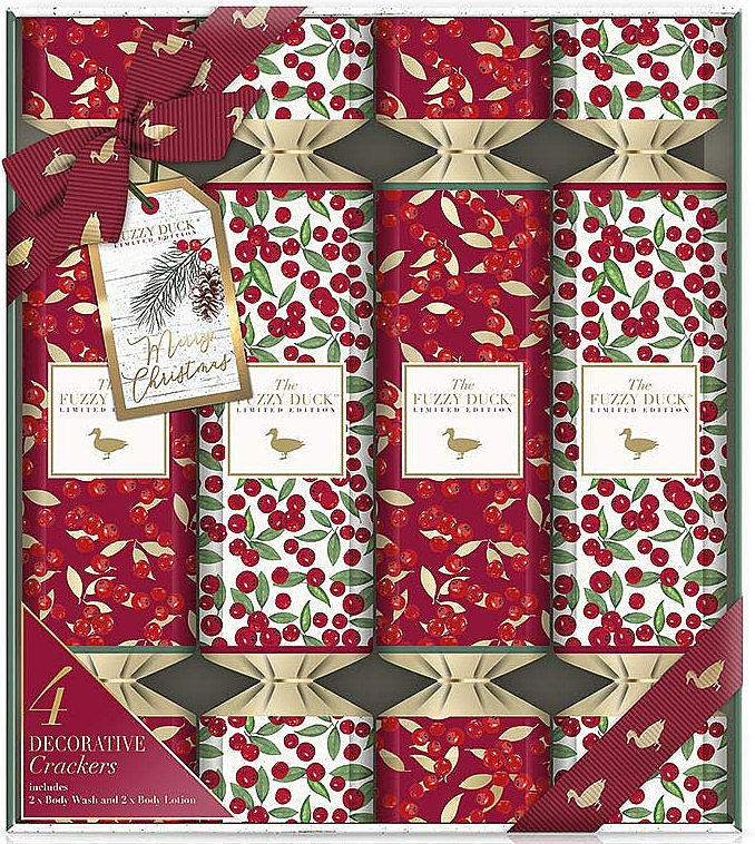 Набор - Baylis & Harding The Fuzzy Duck Winter Wonderland Luxury Gift Crackers (b/wash/2x30ml + b/lot/2x30ml) — фото N1