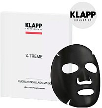 Духи, Парфюмерия, косметика Регулирующая черная маска - Klapp X-Treme Regulating Black Mask