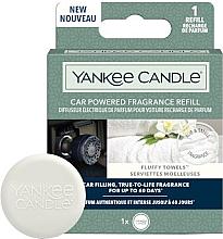 Духи, Парфюмерия, косметика Ароматизатор для автомобиля - Yankee Candle Car Powered Fragrance Refill Fluffy Towels (сменный блок)