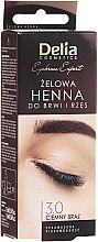 Духи, Парфюмерия, косметика Гель-краска для бровей, темно-коричневая - Delia Eyebrow Tint Gel ProColor 3.0 Dark Brown