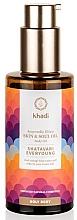 Духи, Парфюмерия, косметика Аюрведический эликсир-масло для тела - Khadi Ayurvedic Elixir Skin & Soul Oil Shatavari Everyoung