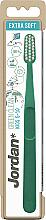 Духи, Парфюмерия, косметика Зубная щетка для детей от 5-10 лет, экстра мягкая, зеленая - Jordan Green Clean Kids