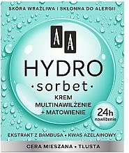 Духи, Парфюмерия, косметика Матирующий мультиувлажняющий крем для лица - AA Hydro Sorbet Moisturising & Mattifying Cream