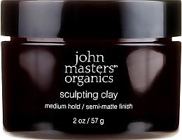 Духи, Парфюмерия, косметика Моделирующая глина с матирующим эффектом - John Masters Organics Sculpting Clay Medium Hold Matte Finish